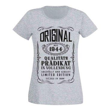 T-Shirt 75. Geburtstag Geschenk Idee Original Prädikat 1944 75ter Damen XS - 3XL – Bild 7