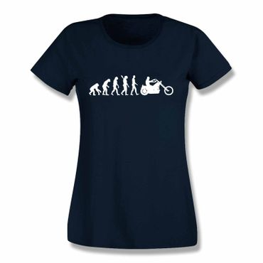 T-Shirt Evolution Chopper Biker Rocker Cruiser Harley BMW 15 Farben Damen XS-3XL – Bild 10