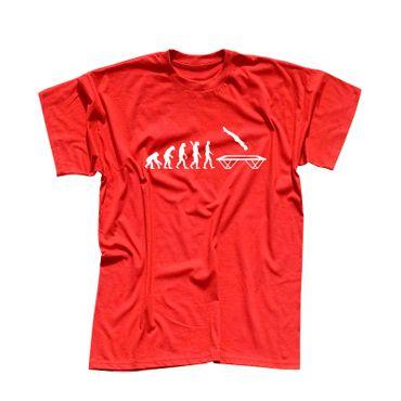 T-Shirt Evolution Trampolin-Springen Berg Hudora Turnen 13 Farben Herren XS-5XL – Bild 13