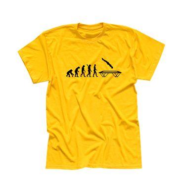 T-Shirt Evolution Trampolin-Springen Berg Hudora Turnen 13 Farben Herren XS-5XL – Bild 15