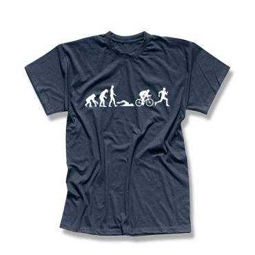 T-Shirt Evolution Triathlon Ironman Hawaii Roth Laufen 13 Farben Herren XS-5XL – Bild 11