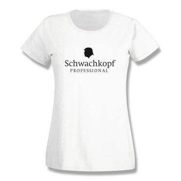 T-Shirt Schwachkopf Professional Trump Präsident USA 15 Farben Damen XS-3XL – Bild 4