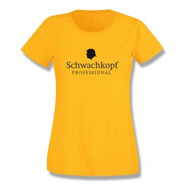 T-Shirt Schwachkopf Professional Trump Präsident USA 15 Farben Damen XS-3XL – Bild 17