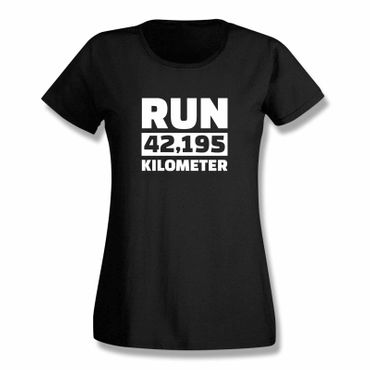 T-Shirt Run 42,195 km Marathon Laufen New York Boston 15 Farben Damen XS-3XL – Bild 3