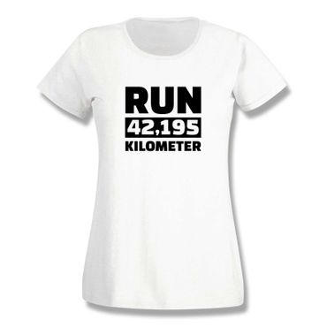 T-Shirt Run 42,195 km Marathon Laufen New York Boston 15 Farben Damen XS-3XL – Bild 4
