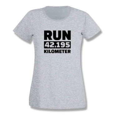 T-Shirt Run 42,195 km Marathon Laufen New York Boston 15 Farben Damen XS-3XL – Bild 7