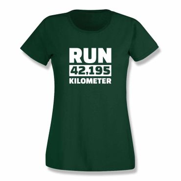 T-Shirt Run 42,195 km Marathon Laufen New York Boston 15 Farben Damen XS-3XL – Bild 8