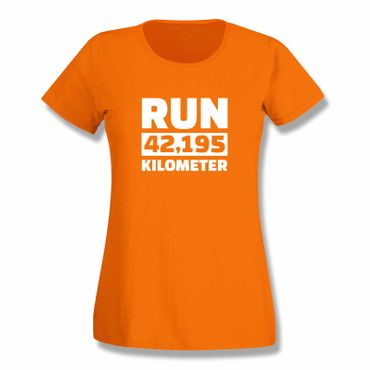 T-Shirt Run 42,195 km Marathon Laufen New York Boston 15 Farben Damen XS-3XL – Bild 16
