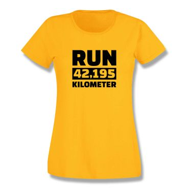 T-Shirt Run 42,195 km Marathon Laufen New York Boston 15 Farben Damen XS-3XL – Bild 17