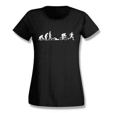 T-Shirt Evolution Triathlon Ironman Hawaii Roth Laufen 15 Farben Damen XS-3XL