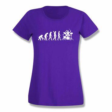 T-Shirt Evolution Drummer Schlagzeug Tama Pearl Gretsch 15 Farben Damen XS-3XL – Bild 14