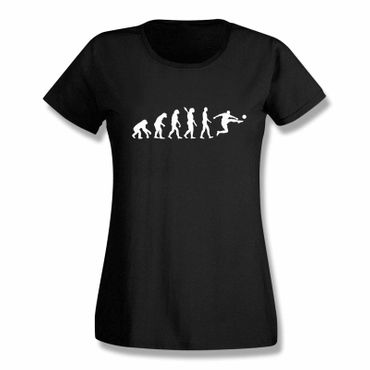 T-Shirt Evolution Fussball Ronaldo CR7 Messi Barca Real 15 Farben Damen XS-3XL