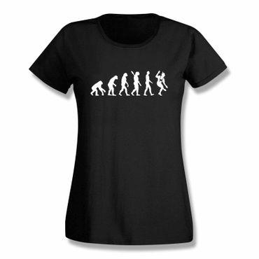 T-Shirt Evolution Bayerin Bayern Schuhplattler München  15 Farben Damen XS-3XL – Bild 1
