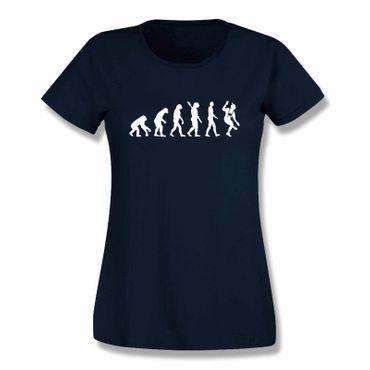 T-Shirt Evolution Bayerin Bayern Schuhplattler München  15 Farben Damen XS-3XL – Bild 10