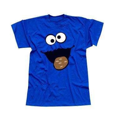 T-Shirt Krümelmonster Kekse Karneval Fasching Kostüm Sesamstraße Herren XS - 5XL – Bild 1