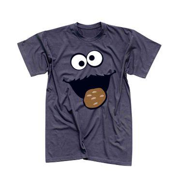 T-Shirt Krümelmonster mit Keks 13 Farben Herren XS-5XL – Bild 6