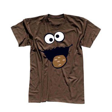 T-Shirt Krümelmonster Kekse Karneval Fasching Kostüm Sesamstraße Herren XS - 5XL – Bild 8