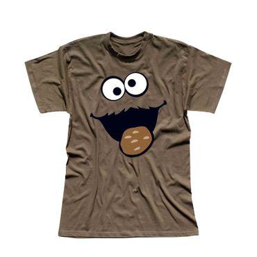 T-Shirt Krümelmonster mit Keks 13 Farben Herren XS-5XL – Bild 9