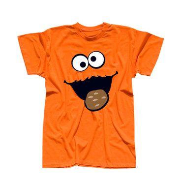 T-Shirt Krümelmonster mit Keks 13 Farben Herren XS-5XL – Bild 14