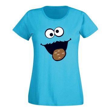 T-Shirt Krümelmonster mit Keks 15 Farben Damen XS-3XL – Bild 12