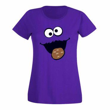 T-Shirt Krümelmonster mit Keks 15 Farben Damen XS-3XL – Bild 14