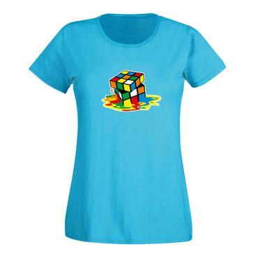 T-Shirt Sheldon Würfel Big Bang Theory 80er Cube Nerd 15 Farben Damen XS-3XL – Bild 12