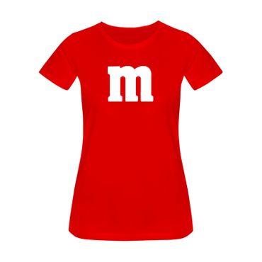 T-Shirt M&M Schoko-Linse Gruppenkostüm Karneval Fasching 16 Farben Damen XS-3XL – Bild 16