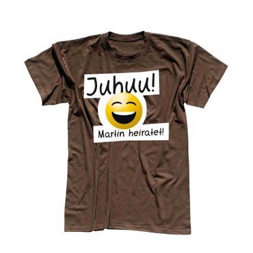 T-Shirt Junggesellen Abschied Smiley 13 Farben Herren XS-5XL – Bild 13