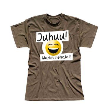 T-Shirt Junggesellen Abschied Smiley 13 Farben Herren XS-5XL – Bild 15