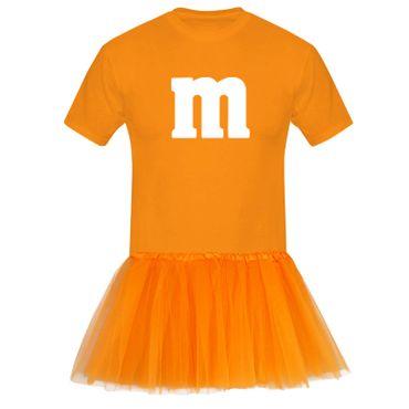 T-Shirt M&M + Tüllrock Karneval Gruppenkostüm Schokolinse 8 Farben Herren XS-5XL – Bild 9