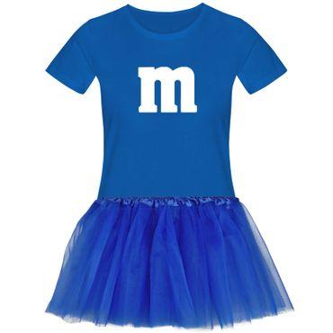 T-Shirt M&M + Tüllrock Karneval Gruppenkostüm Schokolinse 11 Farben Damen XS-3XL – Bild 8