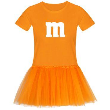 T-Shirt M&M + Tüllrock Karneval Gruppenkostüm Schokolinse 11 Farben Damen XS-3XL – Bild 12