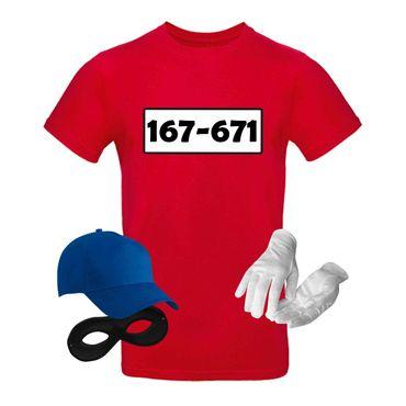 T-Shirt Panzerknacker Herren Wunschnummer Kostüm-Set Karneval JGA XS bis 5XL – Bild 4