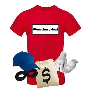 T-Shirt Panzerknacker Herren Wunschnummer Kostüm-Set Karneval JGA XS bis 5XL – Bild 11