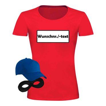 T-Shirt Panzerknacker Damen Deluxe+ Kostüm-Set Karneval Fasching JGA XS bis 3XL – Bild 8