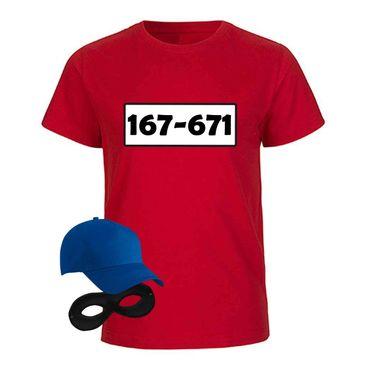 T-Shirt Panzerknacker Kids Deluxe+ Kostüm-Set Karneval JGA Fasching Kinder 98 bis 164 – Bild 4