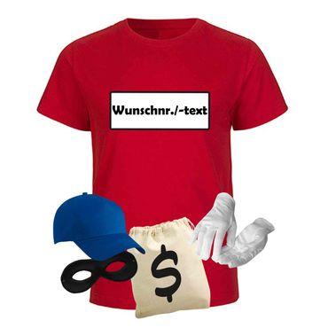 T-Shirt Panzerknacker Kids Deluxe+ Kostüm-Set Karneval JGA Fasching Kinder 98 bis 164 – Bild 7