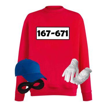 Sweatshirt Panzerknacker Herren Wunschnummer Kostüm-Set Karneval JGA XS - 5XL – Bild 1