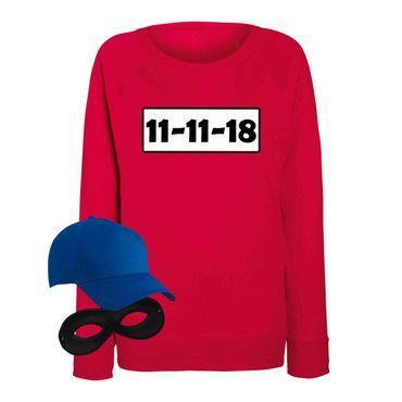 Sweatshirt Panzerknacker Damen Wunschnummer Kostüm-Set Karneval JGA XS - 2XL – Bild 15