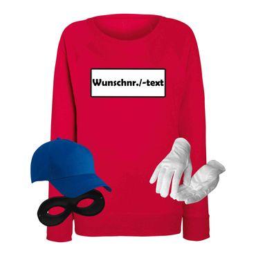 Sweatshirt Panzerknacker Damen Deluxe+ Kostüm-Set Wunschnummer Karneval JGA XS - 2XL – Bild 9