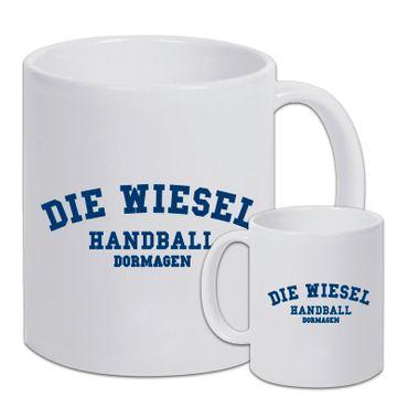 "KAFFEEBECHER ""TSV BAYER DORMAGEN - FANTASSE // DIE WIESEL - HANDBALL DORMAGEN"" WEISS"