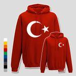 Hoodie Türkei Türkiye Turkey Istanbul Antalya Izmir Mond 10 Farben Herren XS-5XL 001