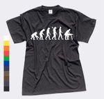 T-Shirt Evolution Tischler Schreiner Dachdecker Meister 11 Farben Herren XS-4XL 001