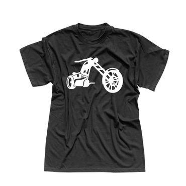 T-Shirt Chopper 3D Logo Biker Motorrad Rocker Cruiser Rider 13 Farben Men XS-5XL – Bild 1
