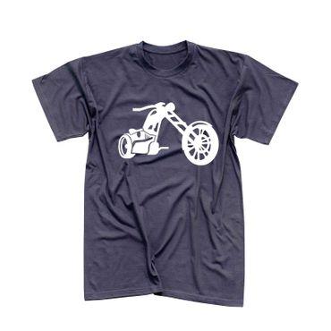 T-Shirt Chopper 3D Logo Biker Motorrad Rocker Cruiser Rider 13 Farben Men XS-5XL – Bild 6