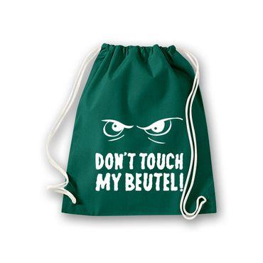 Turnbeutel Don't touch my Beutel cooler Spruch Fun Gym Bag Rucksack 11 Farben – Bild 9