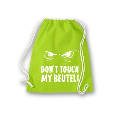 Turnbeutel Don't touch my Beutel cooler Spruch Fun Gym Bag Rucksack 11 Farben – Bild 10
