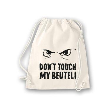 Turnbeutel Don't touch my Beutel cooler Spruch Fun Gym Bag Rucksack 11 Farben – Bild 5
