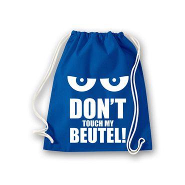 Turnbeutel Don't touch my Beutel kantig Schultasche Gym Sack Bag Fun 11 Farben – Bild 7