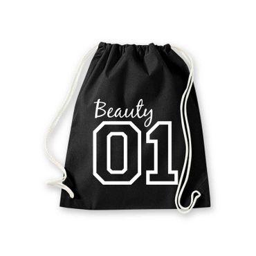 Turnbeutel Beauty 01 Freundin Geschenk Party Outline Gym Sack Bag Fun 11 Farben